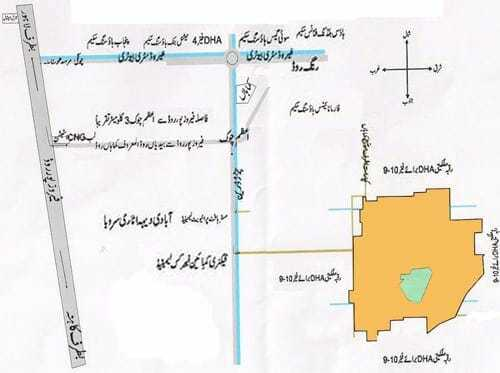 Ashiana Lahore Location Map