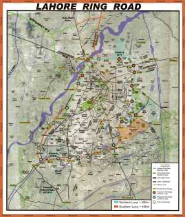 Latest Lahore Ring Road Master Plan Map