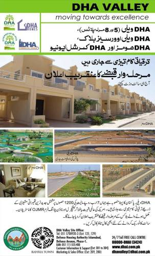 DHA Valley DHA Homes Islamabad Development Status