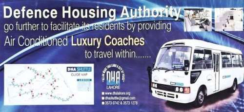 DHA Lahore Shuttle Service Route Map