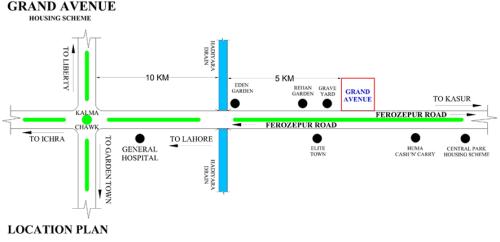 Grand Avenue Housing Scheme Location Map