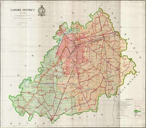 Lahore District Map