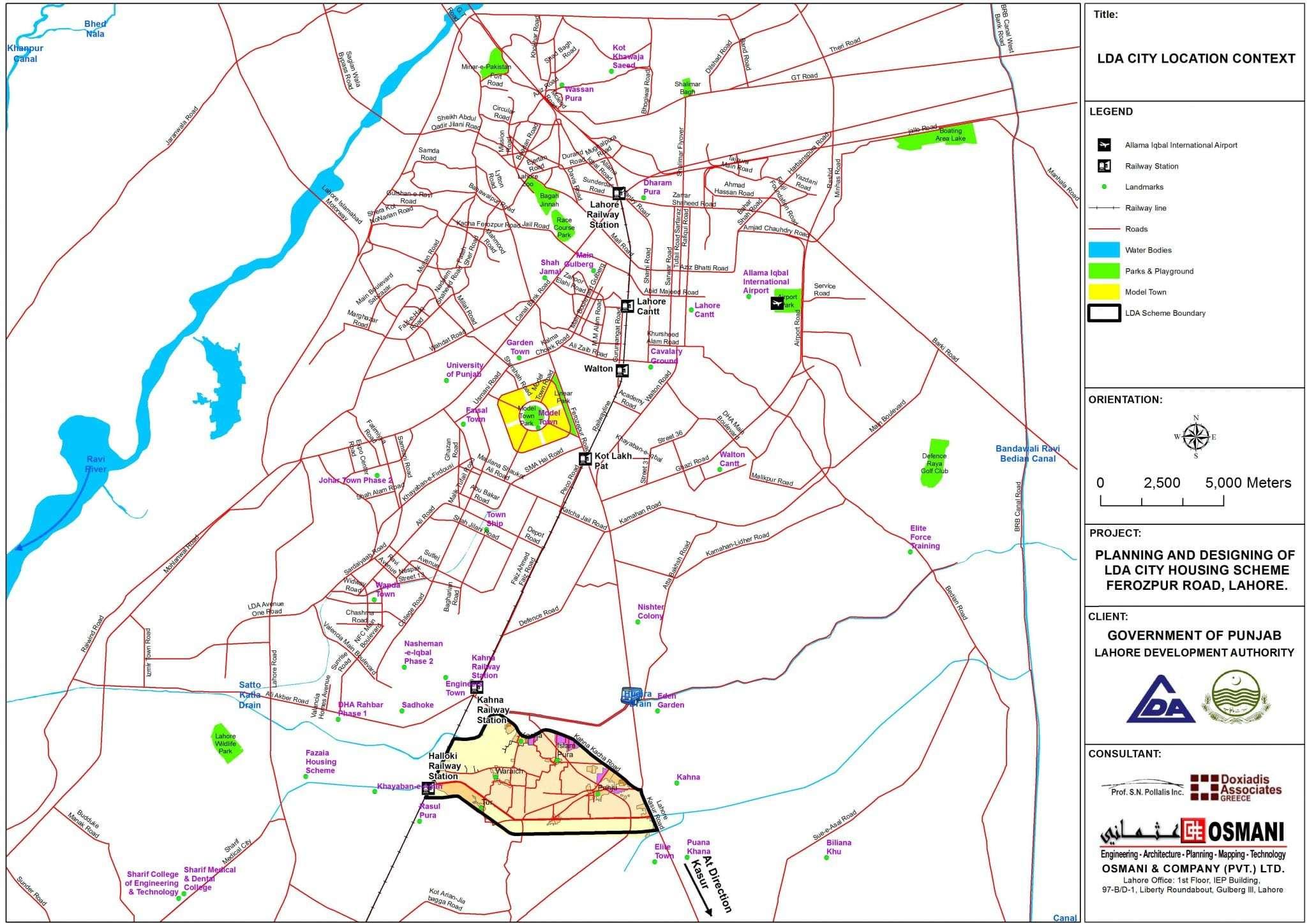 LDA City Lahore Booking Ballot Location Map Development News