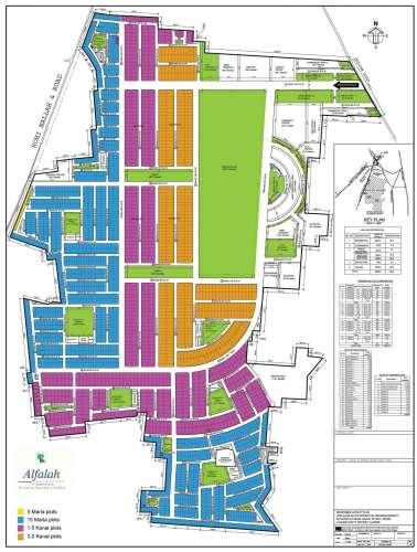 Alfalah Cooperative Housing Society Lahore Map(Provisional)