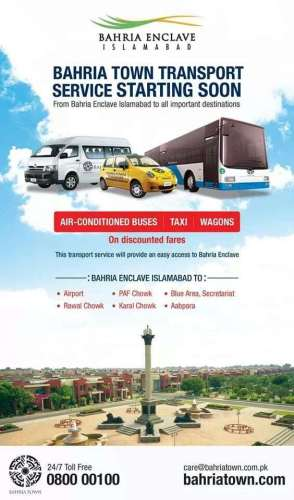 Transport Service Bahria Enclave Islamabad
