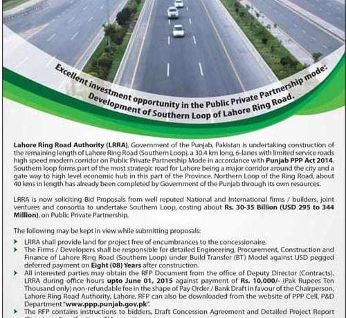 Lahore Ring Road (LRR) Request for Proposals