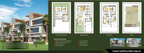 Defence Raya 1 Kanal Golf View Villas Type A Layout