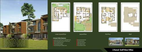 Defence Raya 2 Kanal Golf View Villas Layout