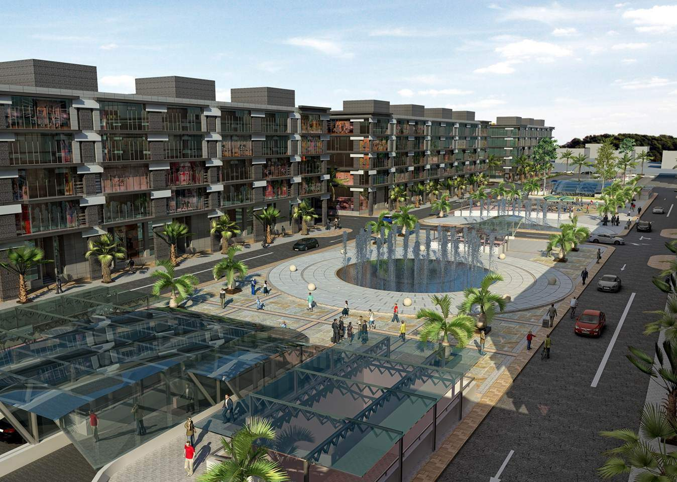 Defence Raya Golf Resort Phase III Commercial Plaza Landscape View