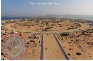 750 M dia Monument Circle New Town