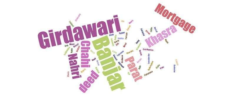 Revenue Terminology Patwar Khana