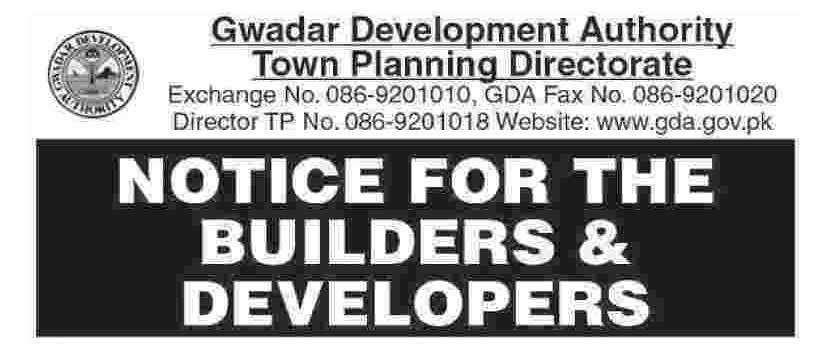 GDA Issued Notice for Builders Developers