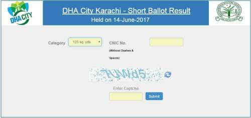 DHA City Karachi Ballot Results 14 June 2017