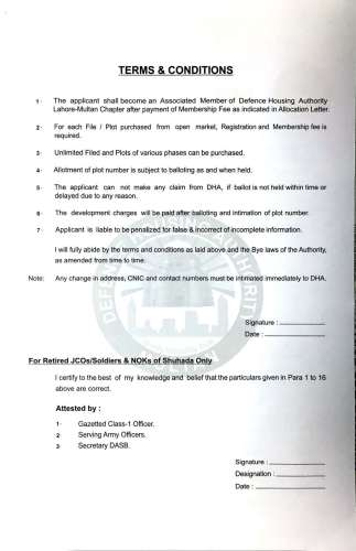 DHA Multan Membership Form-1