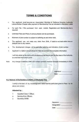 DHA Multan Membership Form-1