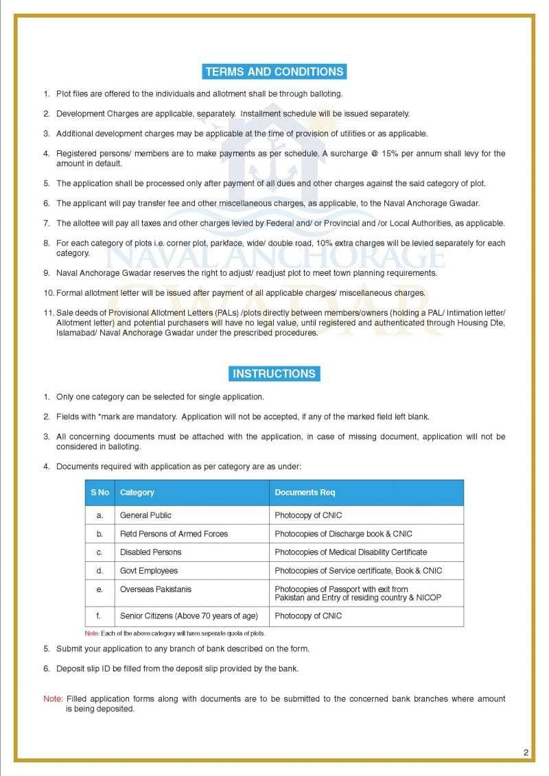 Naval Anchorage Gwadar Booking Application Form-1