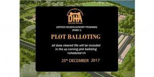 DHA Peshawar Plot Balloting on 25th December, 2017