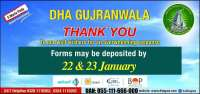 DHA Gujranwala extended date for 5 Marla Plot booking
