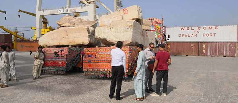 Marble Export Started From Gwadar Port