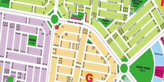 DHA Lahore Plot for Sale Phase 9 Prism Sector G 1 Kanal # 340