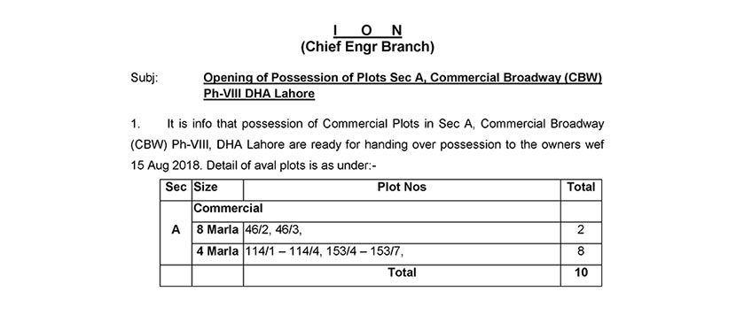 Possession Open for Commercial Broadway Sector A Phase 8 DHA Lahore
