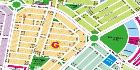 DHA Lahore Plot for Sale Phase 9 Prism Sector G 1 Kanal # 403