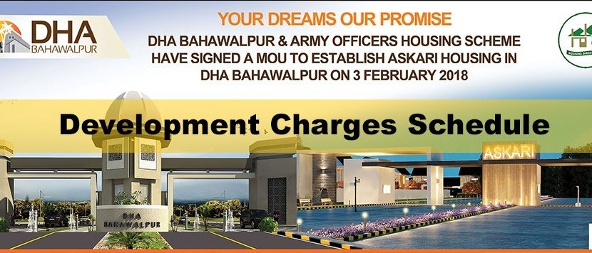 DHA Bahawalpur Development Charges Schedule