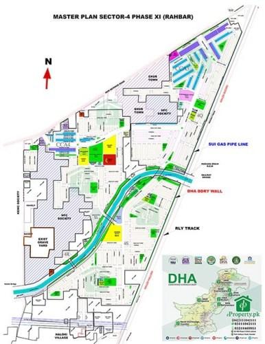 DHA Rahbar Sector 4 Map