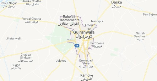 Gujranwala Maps