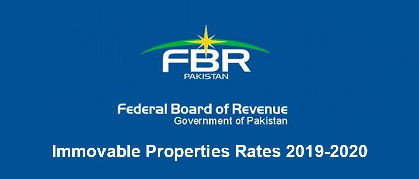 FBR Immovable Properties Rates 2019-2020