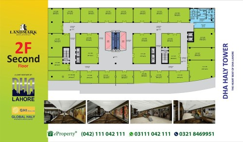 DHA Haly Tower 2nd Floor Layout Plan