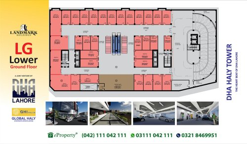 DHA Haly Tower Lower Ground Floor Layout Plan