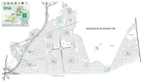 DHA Lahore Phase 8 Map