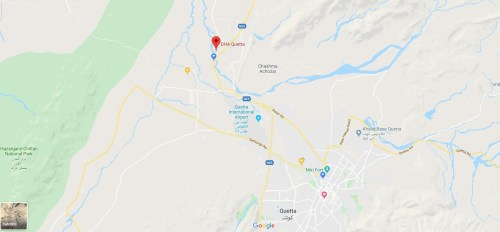 DHA Quetta Location Map