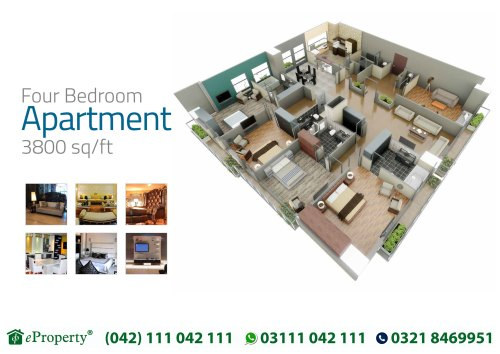 Downtown Mall and Residences 4 Bedroom Layout Plan