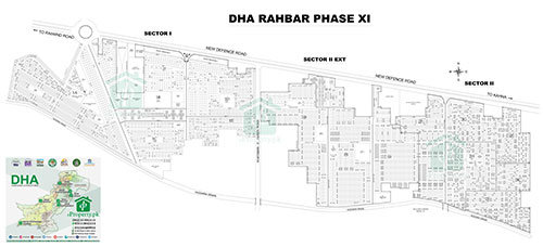 DHA Lahore Phase 11 Sector 2 Map