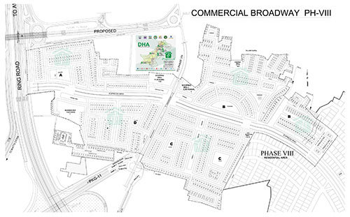 DHA Lahore Phase 8 CBW Map