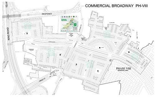 DHA Lahore Phase 8 CBW Map