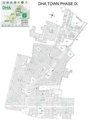 DHA Lahore Phase 9 Shuhada Town Map