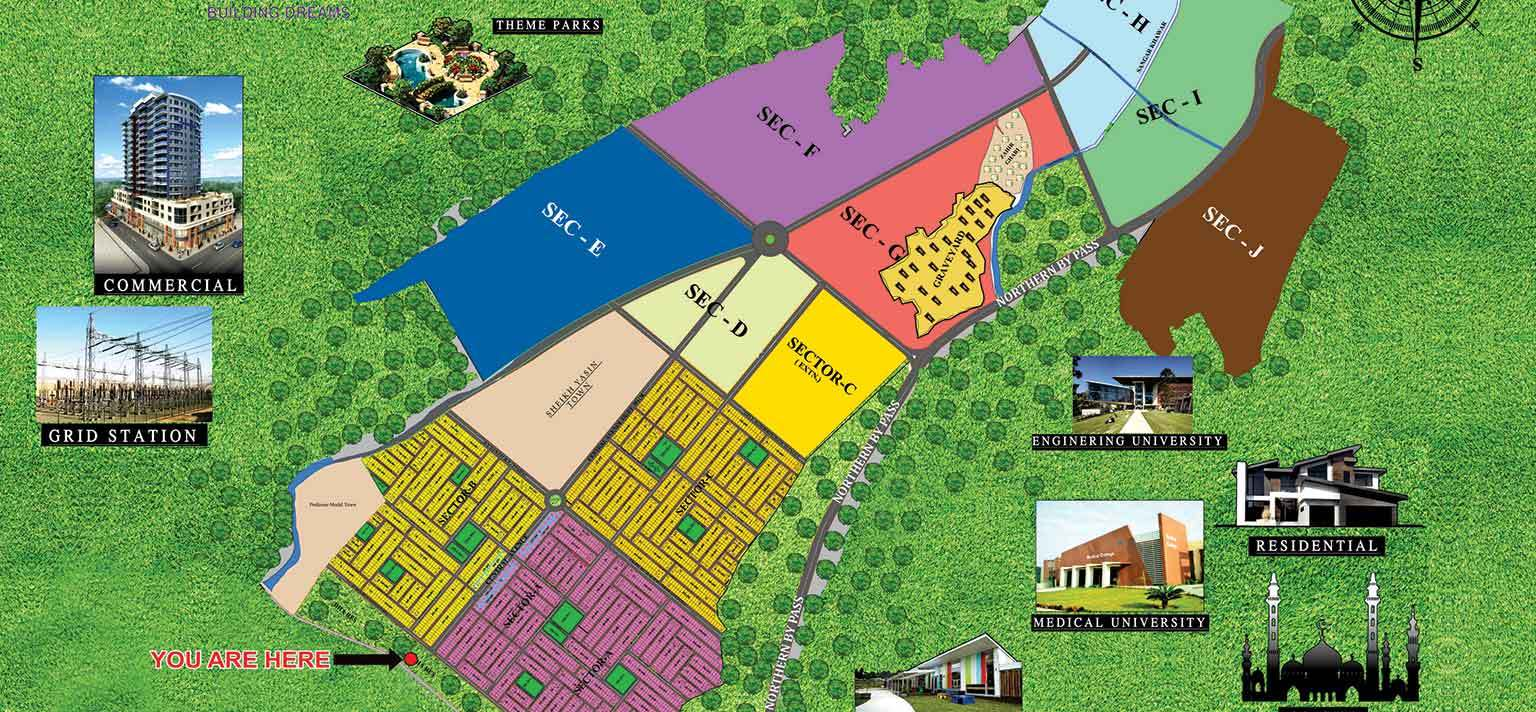 DHA Peshawar Maps | eProperty®