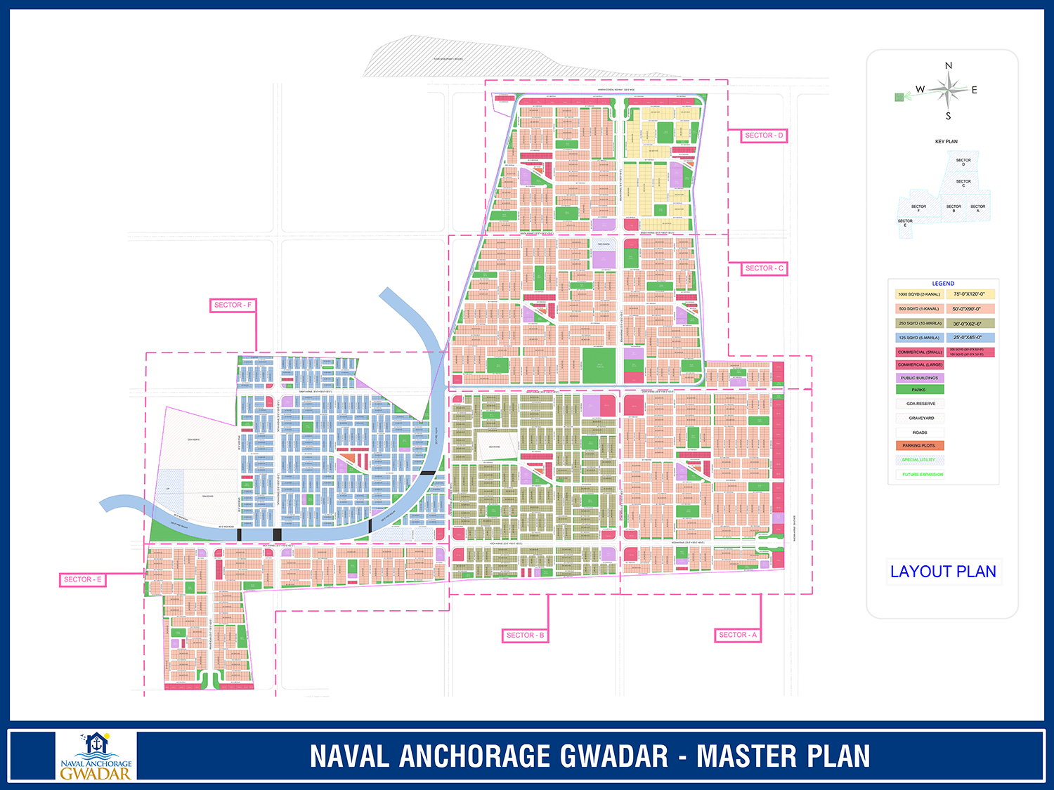Naval Anchorage Gwadar Map