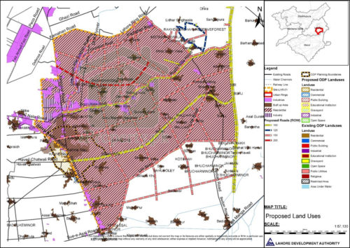 Proposed Road Network from Ferozpur Road to BRB Canal