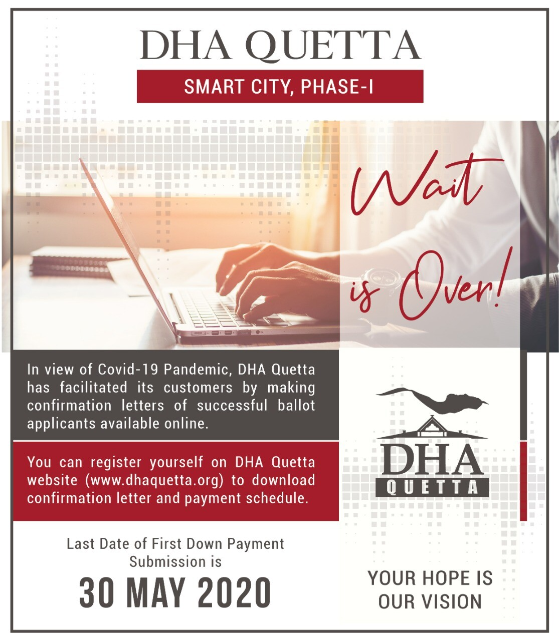 DHA Quetta Confirmation Letters are Online