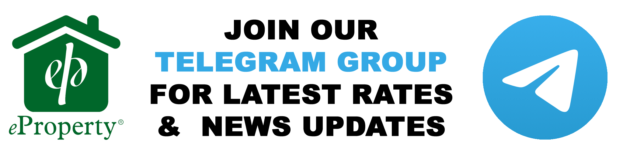 Join eProperty Telegram Groups for Latest DHA Files Rate and News Update