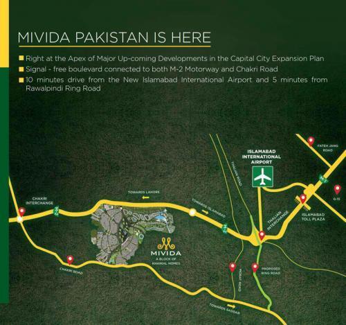 Mivida Pakistan Location