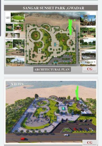 Sunset Park Sangar Gwadar Layout Plan