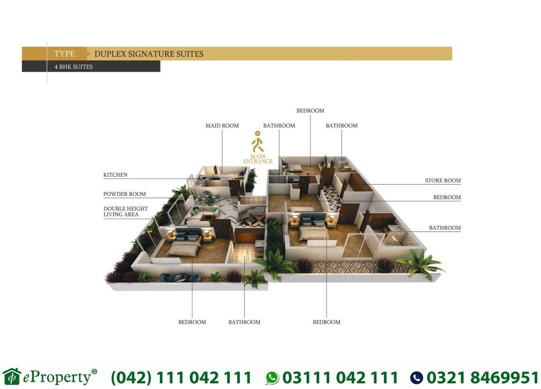 Duplex Lahore Signatures Suits 4 BHK