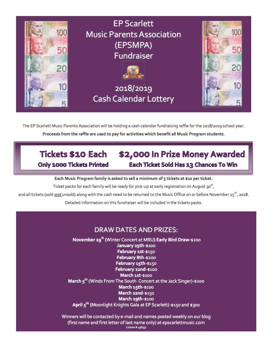 Cash Calendar Info Sheet For Blog