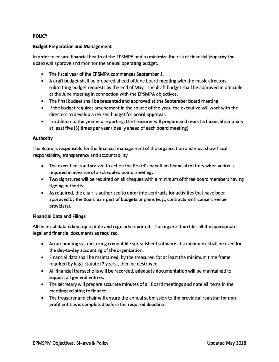 EPSMPA Policy Document - May 2018 page 4