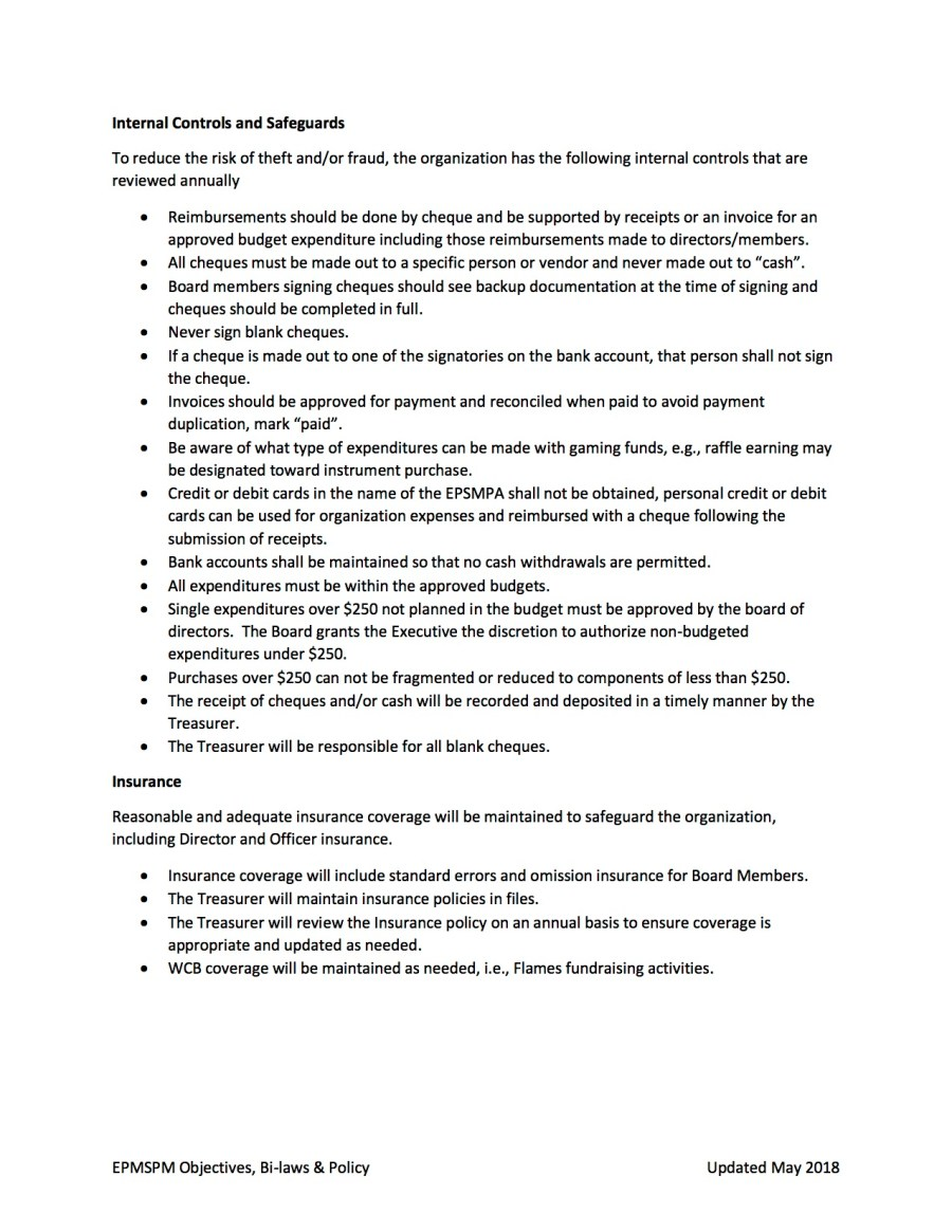 EPSMPA Policy Document - May 2018 page 5